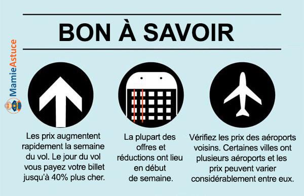 être flexible sur les horaires prix billet avion