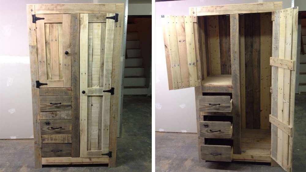 transformer palette en armoire
