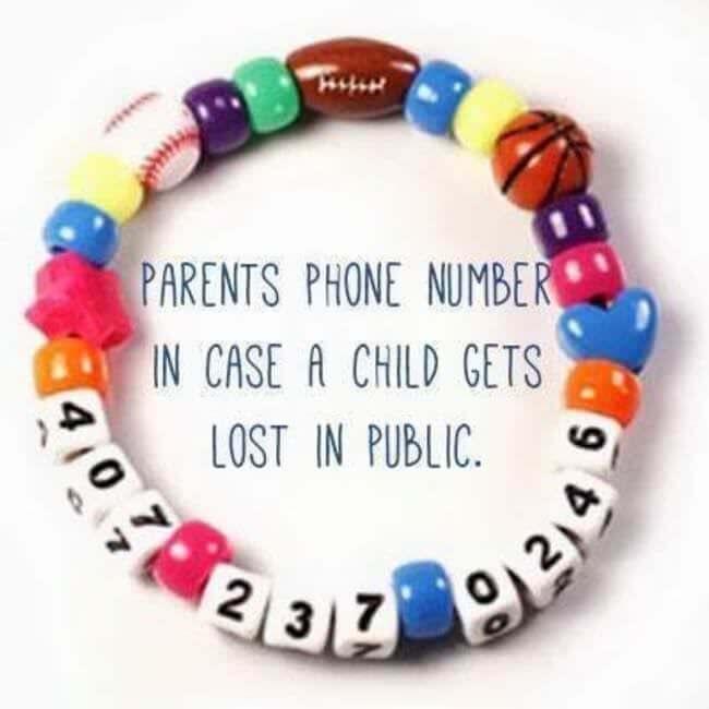 bracelet perdre enfant