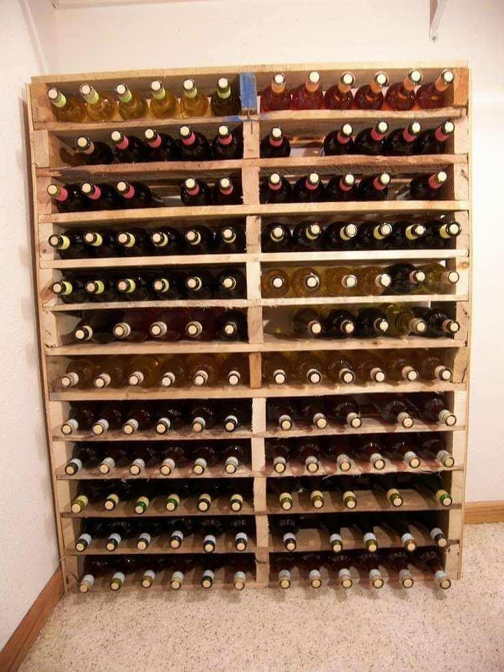 Une cave à vin en bois
