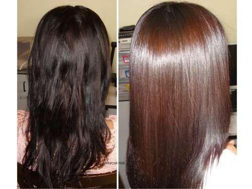 cheveux brillants citron