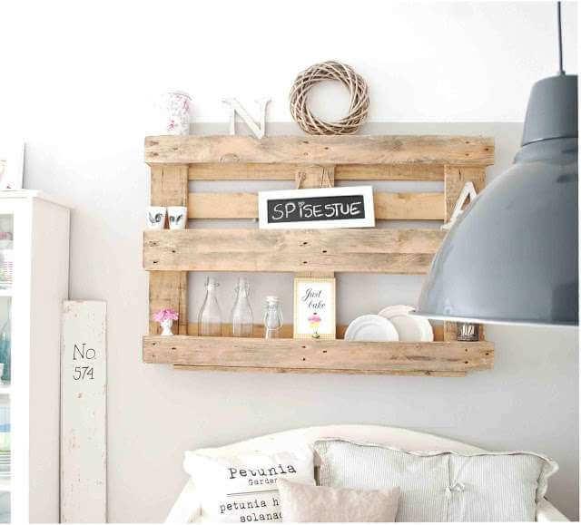 étagères chambre palettes bois