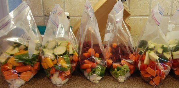 dés légumes congelés