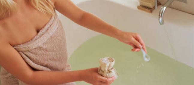 Pour remplacer les sels de bain