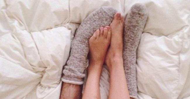 chaussettes lit