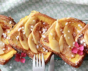 recette brioche perdue aux pommes caramélisées