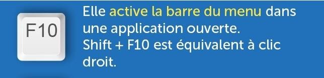 fonction touche f10