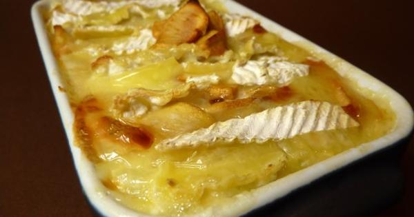 gratin pommes de terre et camembert