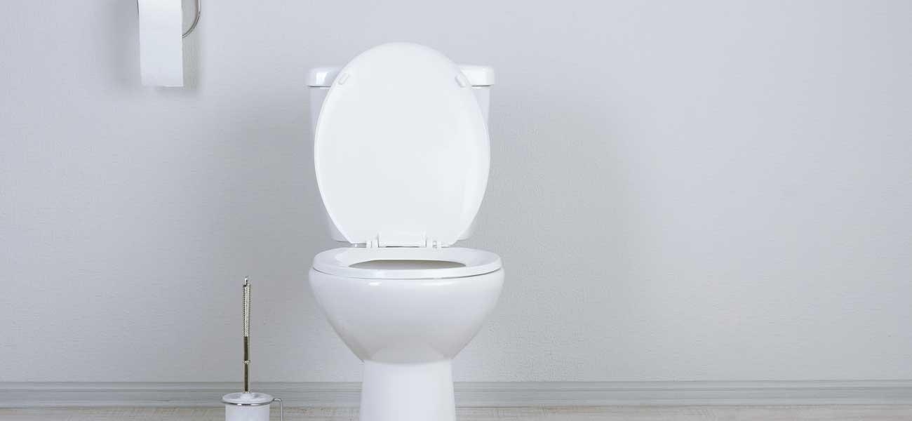 des toilettes blanches