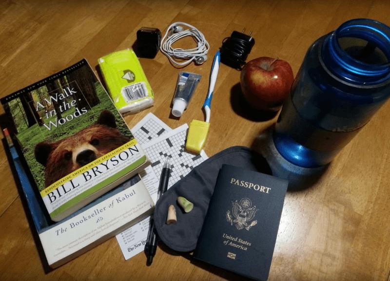 garder une bouteille d'eau vide pour son voyage en avion