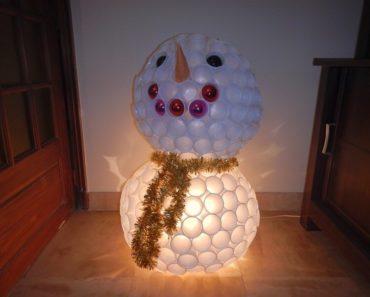 bonhomme de neige en gobelet