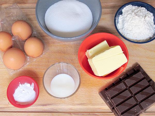 moelleux chocolat ingrédients