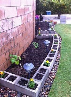 Bordure jardin parpaing