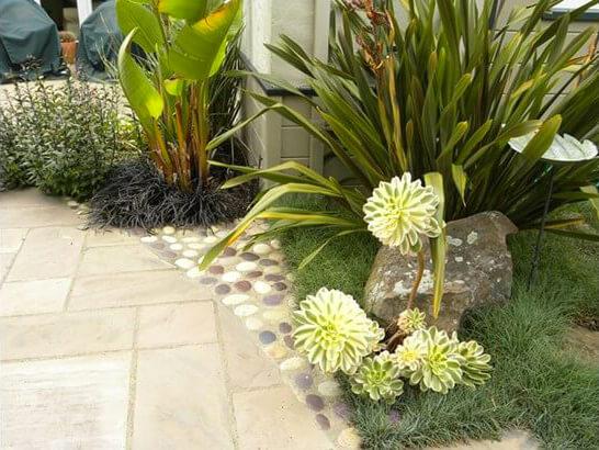bordure jardin galets