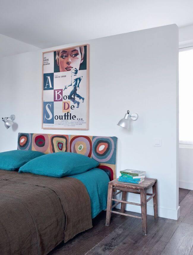 Chambre originale et colorée
