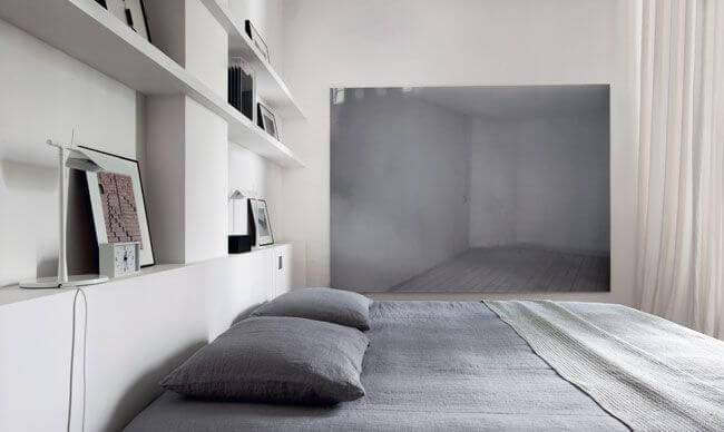 Chambre duo gris et blanc