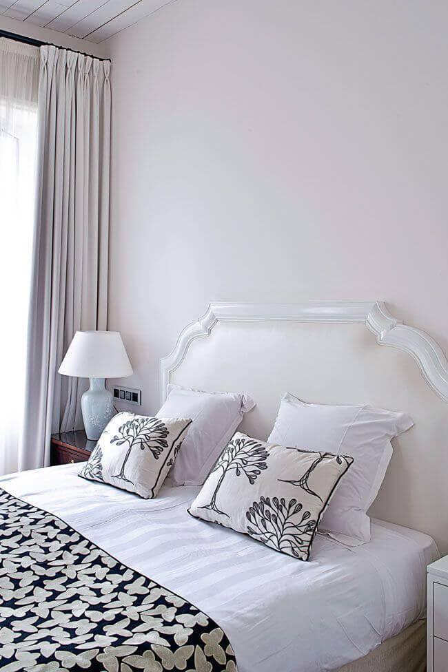 Chambre blanc pur délicat