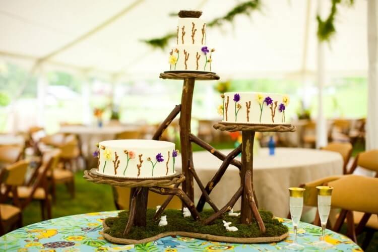 mariage-champêtre-gâteau