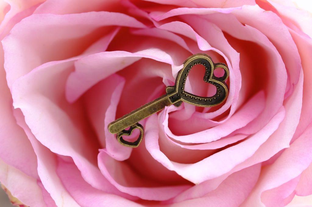 rose -avec-clé