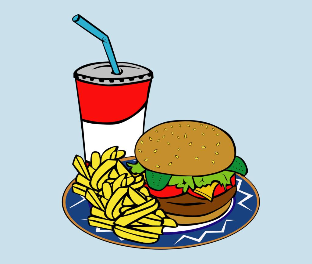 hamburger-frite