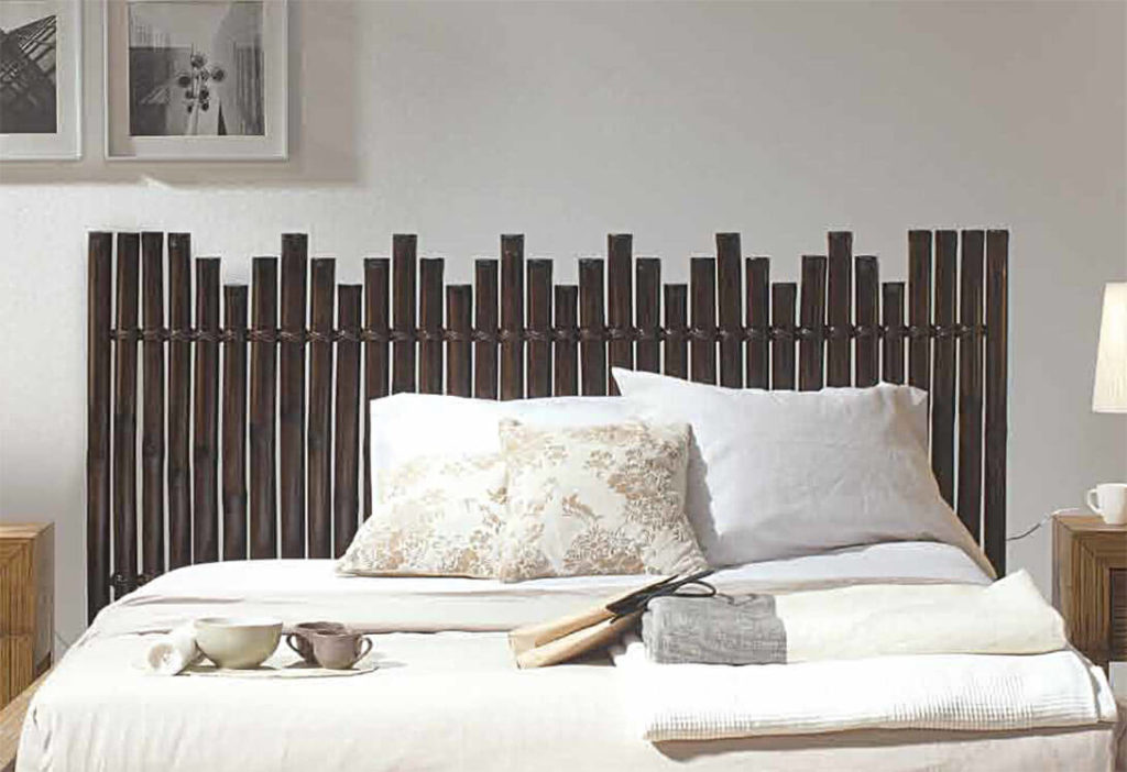 tête-de-lit-palissade-de-bambou-brun